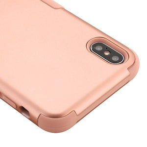AMZER® TUFFEN Hybrid Phone Case Protector Cover - Rose Gold/Rose Gold for iPhone Xs Max