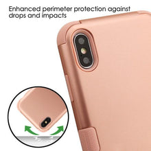 Load image into Gallery viewer, AMZER® TUFFEN Hybrid Phone Case Protector Cover - Rose Gold/Rose Gold for iPhone Xs Max