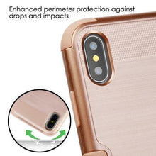 Load image into Gallery viewer, AMZER Brushed Hybrid Protector Cover - Rose Gold/Rose Gold for iPhone X