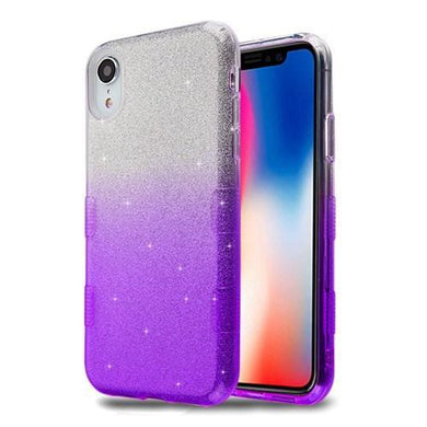 AMZER® TUFFEN Full Glitter Hybrid Protector Cover - Purple Gradient for iPhone Xr