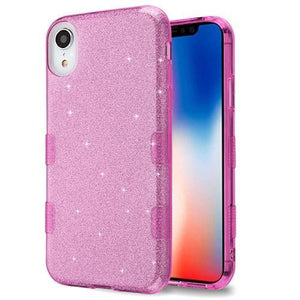 AMZER® TUFFEN Full Glitter Hybrid Protector Cover - Purple for iPhone Xr