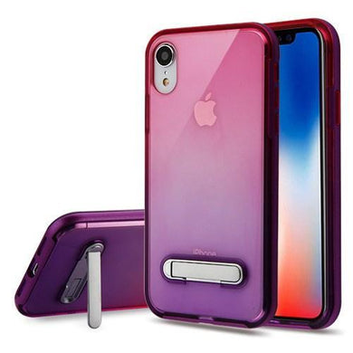 AMZER® Hybrid Protector Cover With Magnetic Metal Stand - Purple/Hot Pink and Purple for iPhone Xr