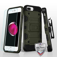 Load image into Gallery viewer, AMZER 3in1 Ballistic Hybrid Protector Cover Combo With Tempered Glass for iPhone 6 Plus