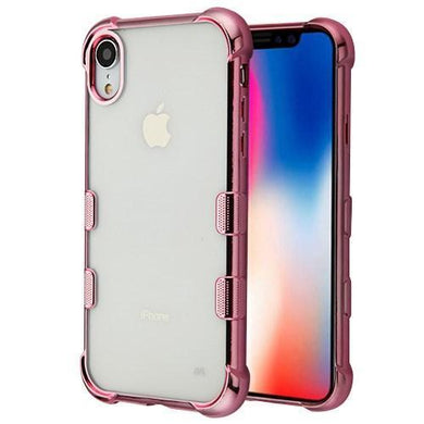 AMZER® TUFFEN Candy TPU Skin Cover -Rose Gold for iPhone Xr