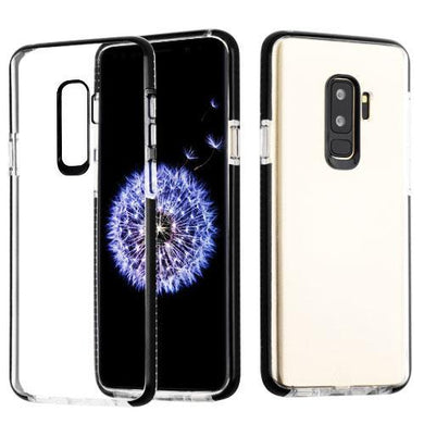 AMZER® Hybrid TPU Bumper Skin Case - Clear/Black for Samsung Galaxy S9 Plus