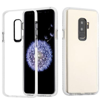 AMZER® Hybrid TPU Bumper Skin Case - Clear/White for Samsung Galaxy S9 Plus