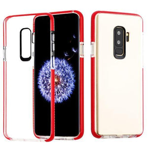 AMZER® Hybrid TPU Bumper Skin Case - Clear/Red for Samsung Galaxy S9 Plus