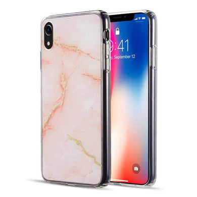 AMZER® Sparkling Marble IMD Soft TPU Protective Case - Orange for iPhone Xr