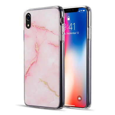AMZER® Sparkling Marble IMD Soft TPU Protective Case - Pink for iPhone Xr