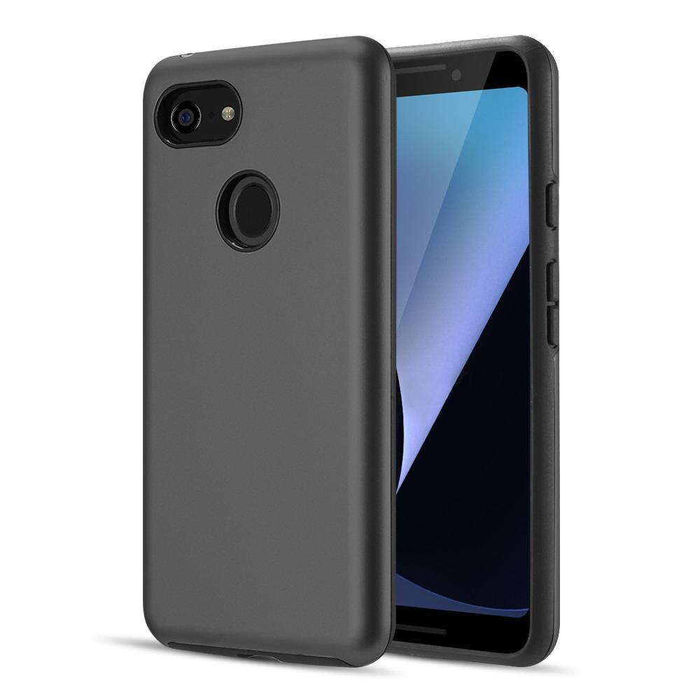 AMZER® Hybrid Dual Layer Slim Case - Black for Google Pixel 3