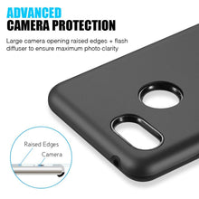 Load image into Gallery viewer, AMZER® Hybrid Dual Layer Slim Case - Black for Google Pixel 3