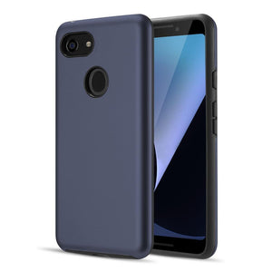 AMZER® Hybrid Dual Layer Slim Case - Blue for Google Pixel 3