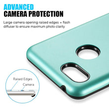 Load image into Gallery viewer, AMZER® Hybrid Dual Layer Slim Case - Teal for Google Pixel 3