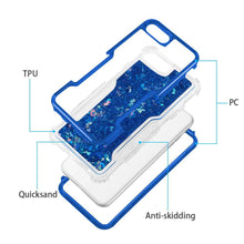 Load image into Gallery viewer, AMZER 3in1 Quicksand Glitter Hybrid Protector Cover - Blue for iPhone 6s
