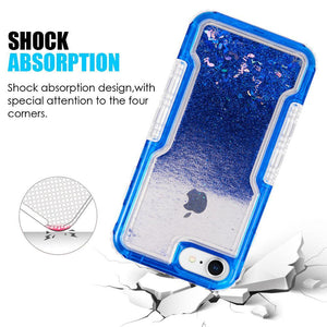 AMZER 3in1 Quicksand Glitter Hybrid Protector Cover - Blue for iPhone 6s