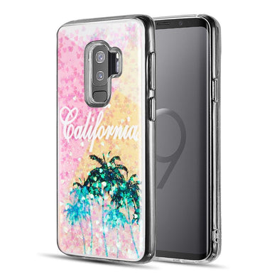 AMZER® Quicksand Glitter Hybrid Protector Cover - Cali Sunshine for Samsung Galaxy S9 Plus