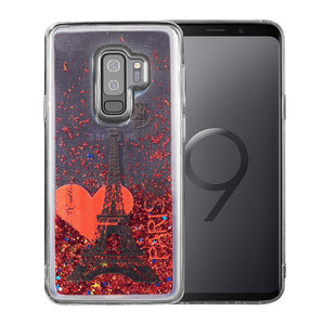AMZER® Quicksand Glitter Hybrid Protector Cover - Romane In Paris for Samsung Galaxy S9 Plus