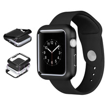 Load image into Gallery viewer, AMZER Armor Aluminum Magnetic Snap Case for Apple Watch Series 4 40mm - Black