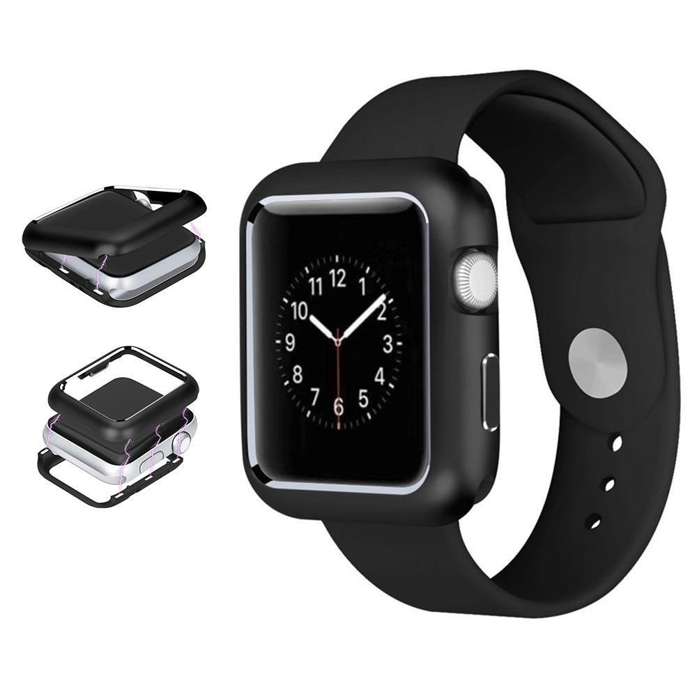 AMZER Armor Aluminum Magnetic Snap Case for Apple Watch Series 4 40mm - Black