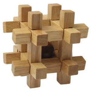Wooden Adult Educational Toys Recreational Toys Kongming Lock