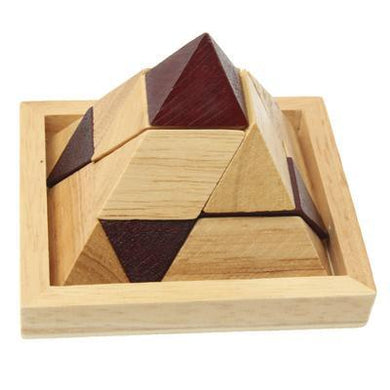 Wooden Adult Educational Toys Recreational Toys Pyramid Lock