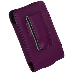 AMZER Burgundy Leather Slide-In Case for iPod 4th Gen