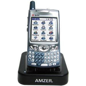 AMZER Desktop Cradle with Extra Battery Charging Slot for Treo 650