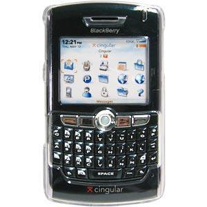 AMZER Clear Snap On Crystal Hard Case for BlackBerry 8800