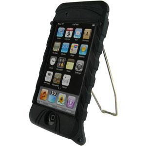 AMZER Skin with Kick Stand - Black for iPod Touch