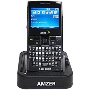 AMZER Desktop Cradle with Extra Battery Charging Slot for Samsung Blackjack SGH-I607