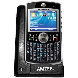 AMZER Desktop Cradle with Extra Battery Charging Slot for Motorola Q 9h