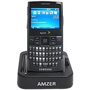 AMZER® Desktop Cradle with Extra Battery Charging Slot for Samsung Blackjack II SGH-I617