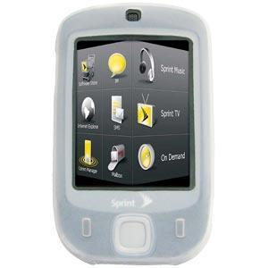 AMZER Silicone Skin Case without Belt Clip - Clear for HTC Touch