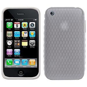 AMZER Silicone Skin Jelly Case for iPhone 3G - Lilly White