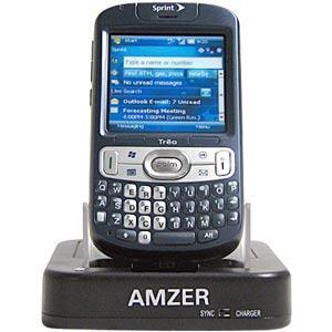 AMZER Desktop Cradle with Extra Battery Charging Slot for Treo 800w