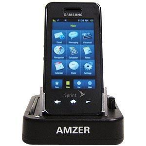 AMZER Desktop Cradle with Extra Battery Charging Slot for Samsung Instinct SPH-M800