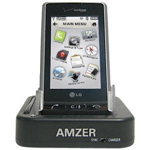 AMZER Desktop Cradle with Extra Battery Charging Slot for LG Dare VX9700