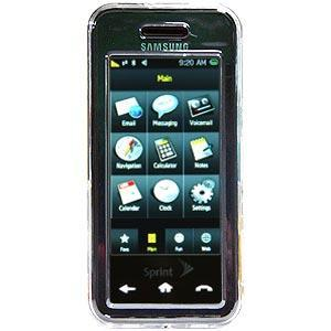 AMZER Clear Snap On Crystal Hard Case for Samsung Instinct SPH-M800
