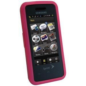 AMZER Silicone Skin Jelly Case Magenta for Samsung Instinct SPH-M800 - Hot Pink