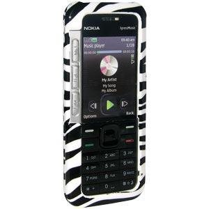 AMZER Zebra Print Snap On Crystal Hard Case for Nokia XpressMusic 5310