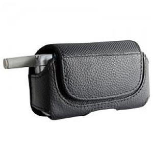 AMZER Trend Small Horizontal Leather Pouch with Rotating Belt Clip - Black for BlackBerry 8110