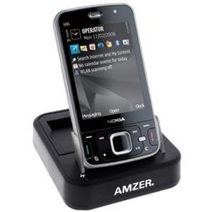 AMZER Desktop Cradle with Extra Battery Charging Slot for Nokia N96