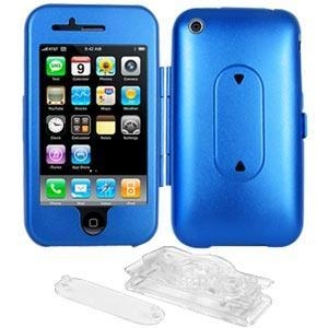 AMZER Aluminum Case w/ Stand - Blue for iPhone 3G