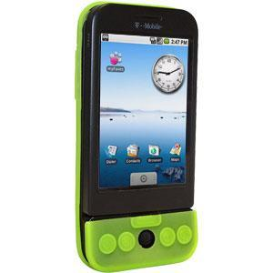 AMZER Shockproof Rugged Silicone Skin Jelly Case for HTC Dream - Neon Green
