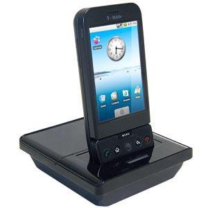 AMZER Deluxe Desktop Cradle with Extra Battery Charging Slot for HTC Dream