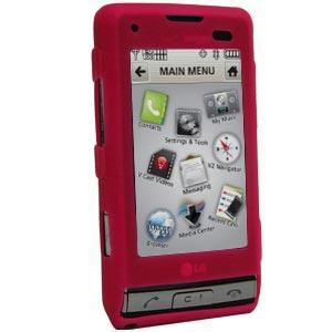 AMZER Silicone Skin Jelly Case Magenta for LG Dare VX9700 - Hot Pink