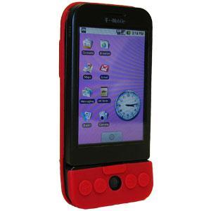 AMZER Silicone Skin Jelly Case for HTC Dream - Maroon Red