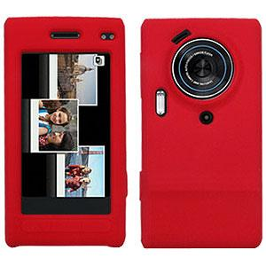 Amzer Silicone Skin Jelly Case - Maroon Red for Samsung Memoir T929