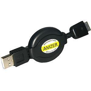 USB Retractable Data Sync and Charge Cable For Samsung Instinct s30 SPH-M810