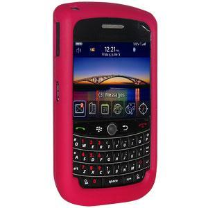 AMZER Silicone Skin Jelly Case Magenta for BlackBerry Bold 9650 - Hot Pink